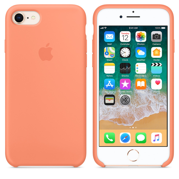 Silikonový kryt Apple Silicone Case iPhone 8/7 Broskvový (Peach)