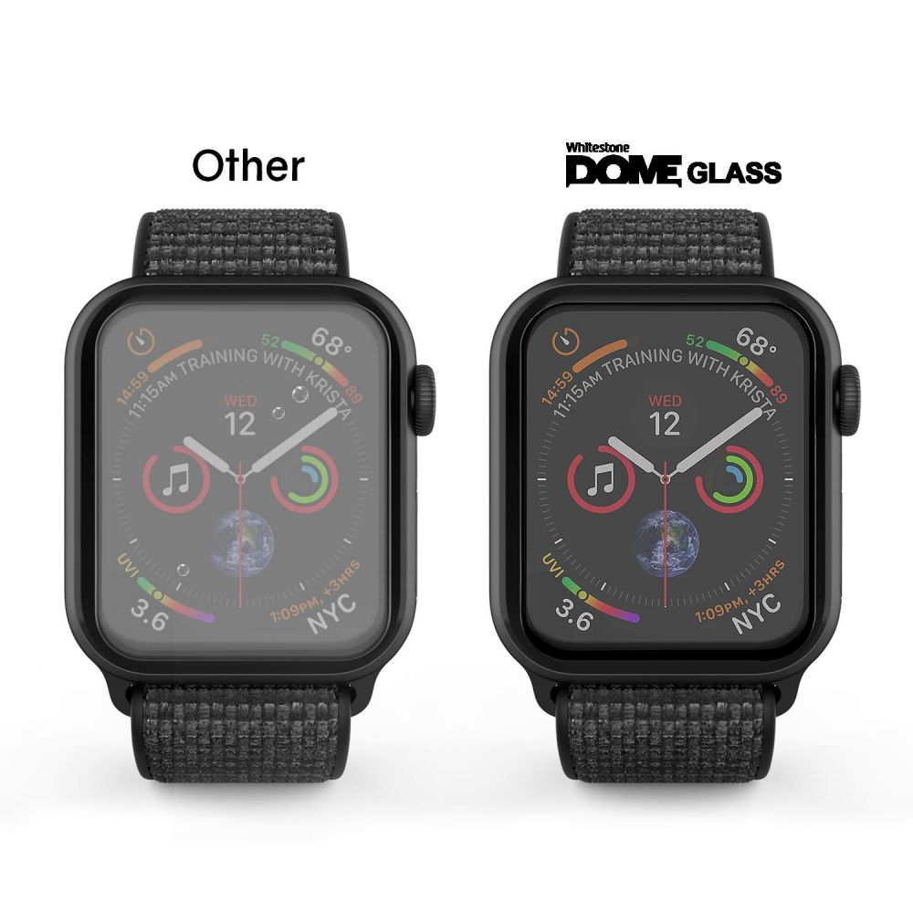 3D sklo WhiteStone Dome Glass UV na Apple Watch Series 4 (44mm), 2 pack