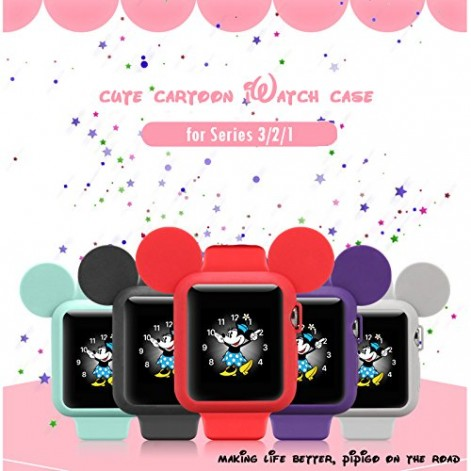 Silikonový obal Cartoon Mickey Apple Watch Series 3/2/1 (38mm)