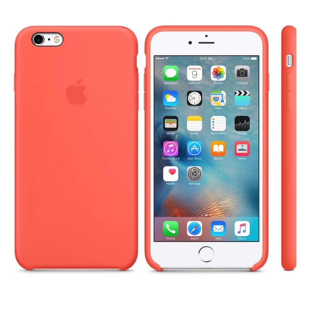 ... Silikonový kryt Apple Silicone Case iPhone 6s 6 Meruňkový (Apricot) ... 28fa990fe77