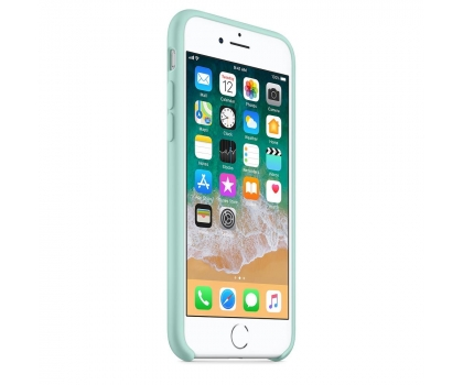 Silikonový kryt Apple Silicone Case iPhone 8/7 Brčálově zelený (Marine Green)