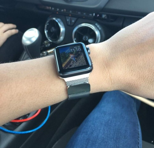 Řemínek Milánský tah - Milanese Loop k Apple Watch Series 4 44mm