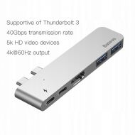 Adaptér Baseus TB3 C+ 5-in-1 HUB Thunderbolt Type-C