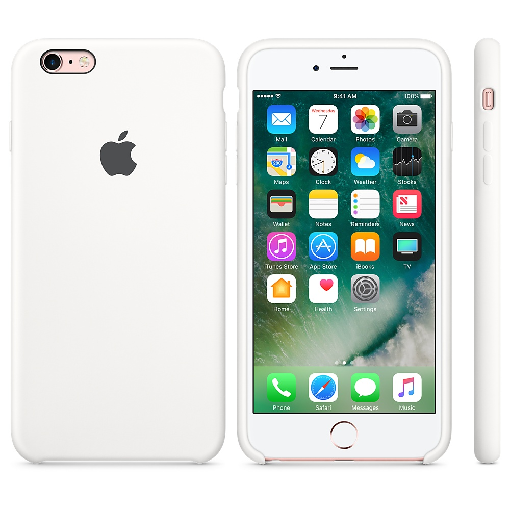 Silikonový kryt Apple Silicone Case iPhone 6s Plus / 6 Plus MKXK2ZM/A Bílý (White)