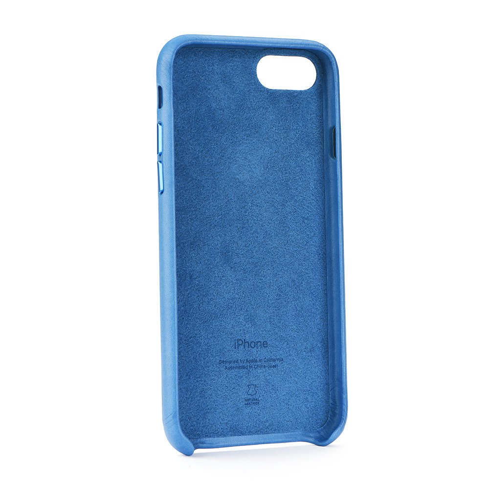 Kožený kryt Apple Leather Case iPhone 8/7 Jezerně modrý (Sea Blue)