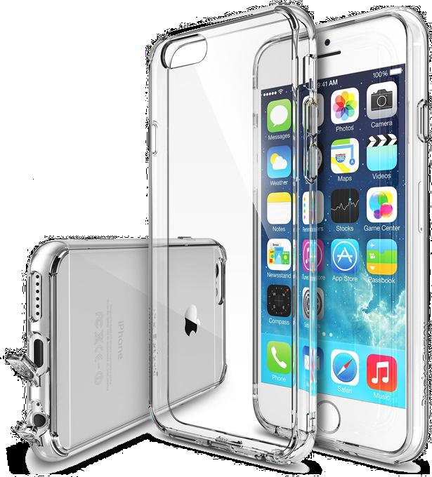 ... Průhledný čirý obal   kryt Ultra Slim Hybrid pro iPhone 6s Plus   6  Plus ... 5d3cdbbdf1f