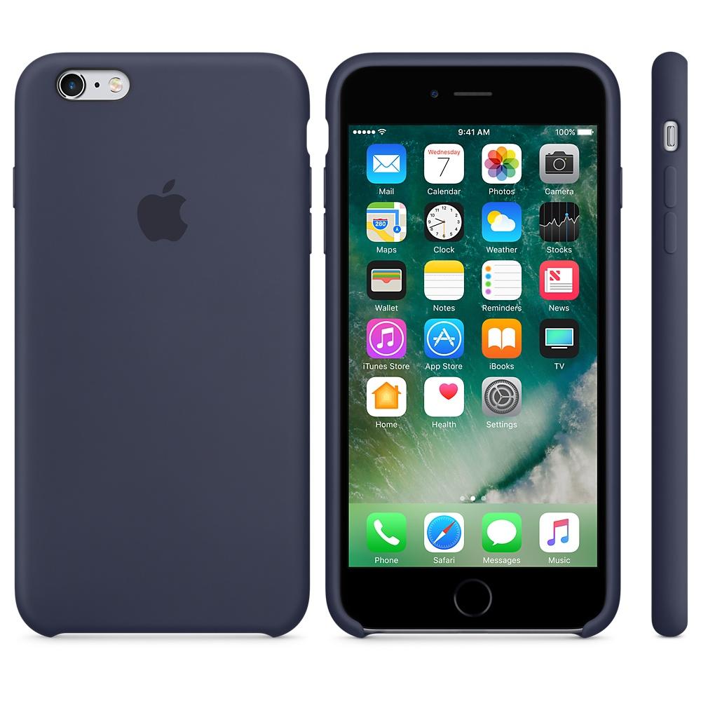 ... Silikonový kryt Apple Silicone Case iPhone 6s 6 Půlnočně modrý  (Midnight Blue) ... 8d429657c1e