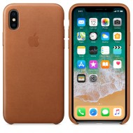 Kožený kryt Apple Leather Case iPhone XS/X - Sedlově hnědý (Saddle Brown)