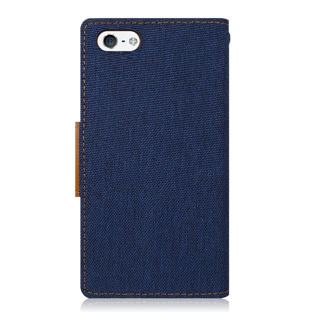 Pouzdro Kabura Canvas Book pro Apple iPhone SE / 5s / 5