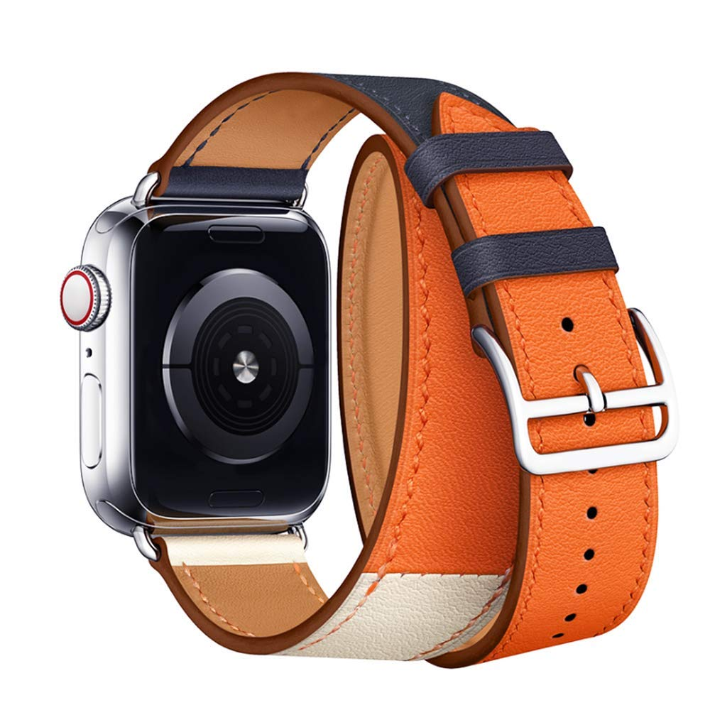 Kožený řemínek Double Tour pro Apple Watch Series 4 (44mm)
