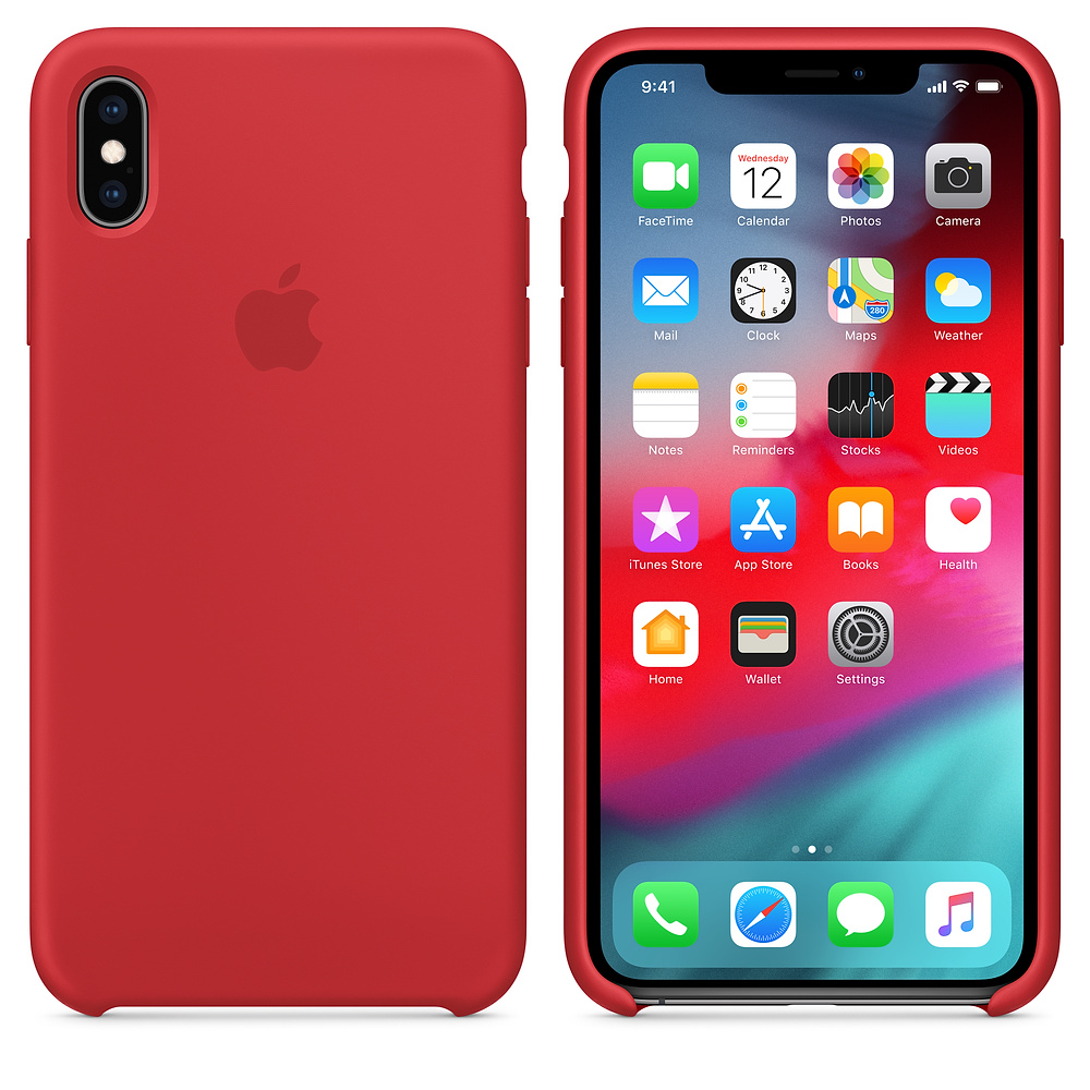 Silikonový kryt Apple Silicone Case iPhone XS Max Červený (PRODUCT)Red