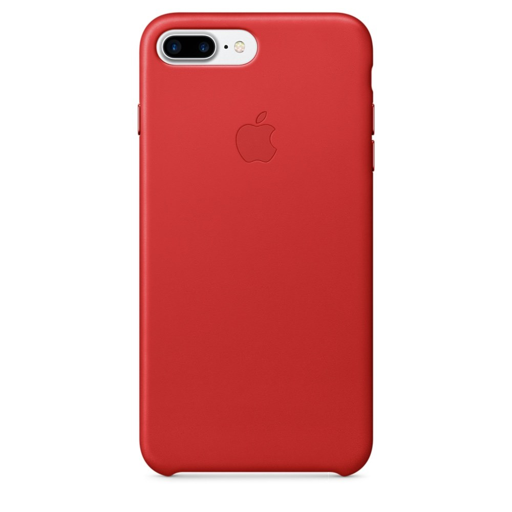 Kožený kryt Apple Leather Case iPhone 8 Plus / 7 Plus Červený (PRODUCT)Red