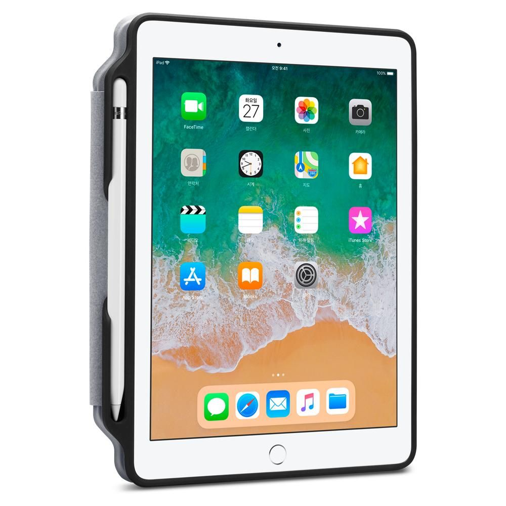Pouzdro Spigen Smart Fold 2 with Pencil Holder na Apple iPad 9.7