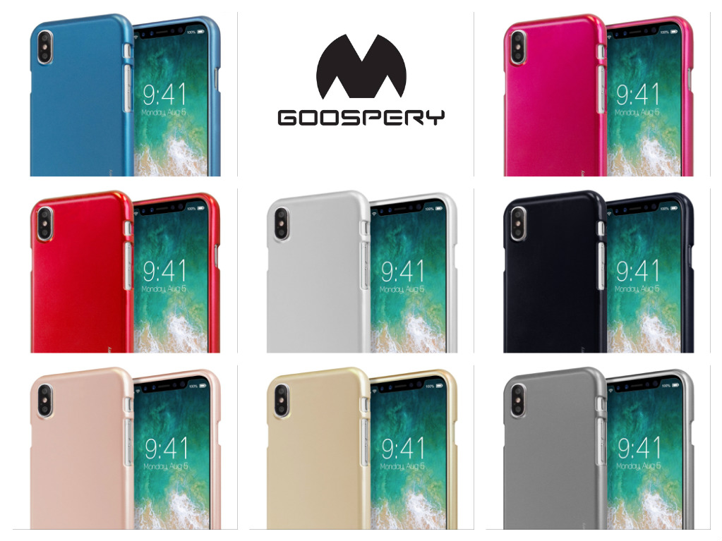 Silikonový obal Goospery Mercury i-Jelly Metal pro Apple iPhone Xs/X