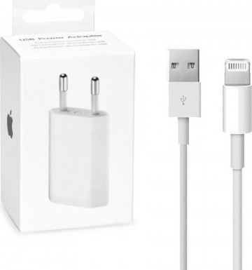 Nabíječka Apple 5W USB Power Adapter + Lightning kabel (MB707ZM/B + MD818)