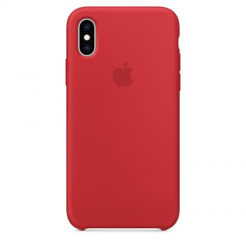 Silikonový kryt Apple Silicone Case iPhone XS/X MRWC2ZM/A Červený (PRODUCT)Red