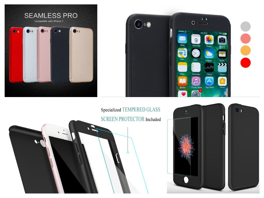 Kryt Defender 360° + Tvrzené sklo na displej Apple iPhone 8 7  aadf237965d