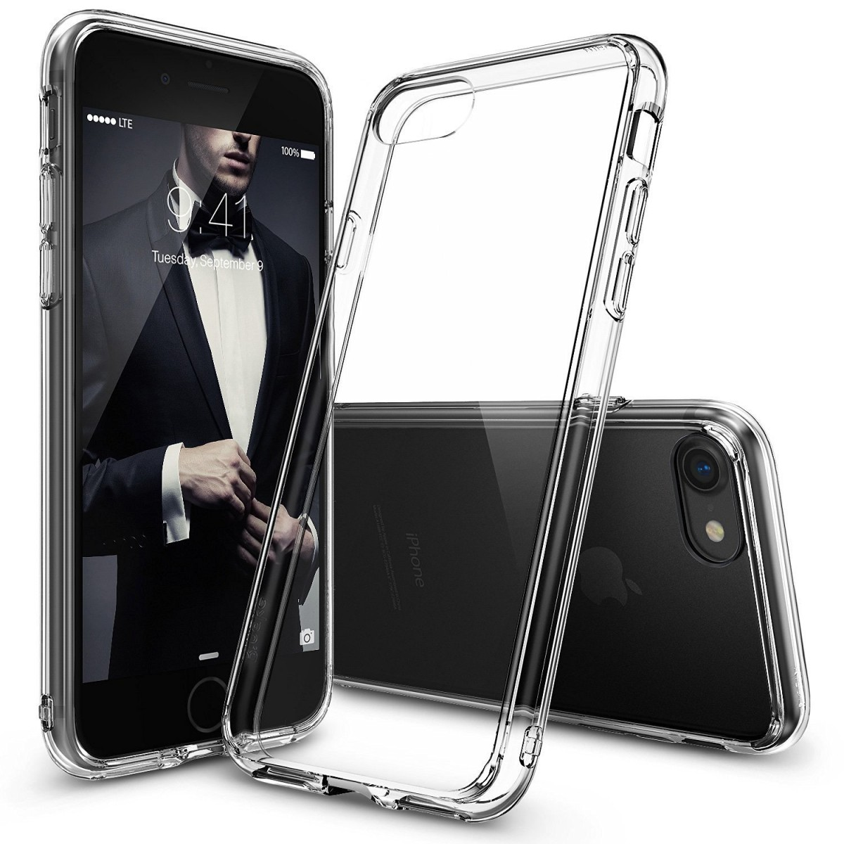 Průhledný čirý obal   kryt Ultra Slim Hybrid na iPhone 8 7  ba5c51cd501