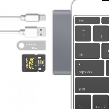 Adaptér Tech-Protect Basix T5 USB-C HUB 5in1