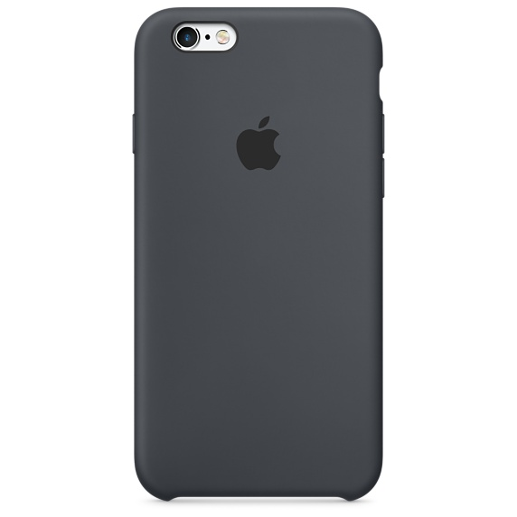 Silikonový kryt Apple Silicone Case iPhone 6s/6 MKY02ZM/A Uhlově šedý (Charcoal Gray)