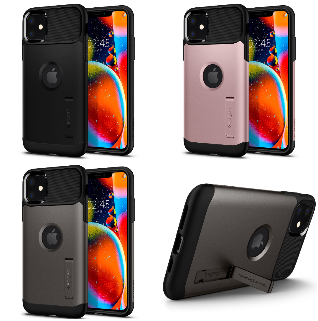 Pouzdro Spigen Slim Armor se stojánkem na Apple iPhone 11