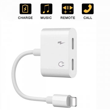 Adaptér / rozdvojka Dual Lightning Audio & Charge