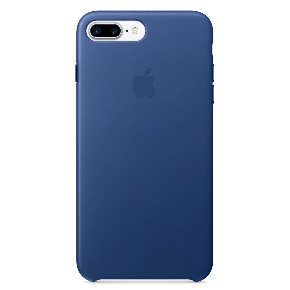 Kožený kryt Apple Leather Case iPhone 8 Plus / 7 Plus Safírový (Sapphire)