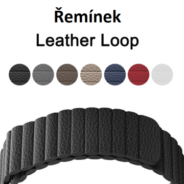 Kožený řemínek Leather Loop na Apple Watch Series 4/5/6/SE (44mm)