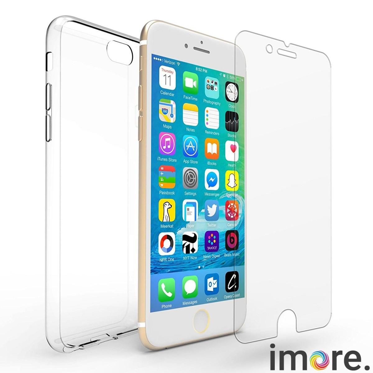 iMore SET  Čirý silikonový TPU obal + tvrzené sklo 9H na iPhone 6s Plus   3ea042cecb3