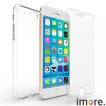 iMore SET  Čirý silikonový TPU obal + tvrzené sklo 9H na iPhone 6s Plus   9743dad89f5