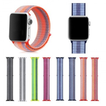 Nylonový řemínek NYLON STRIPES pro Apple Watch Series 4/5/6/SE (44mm)