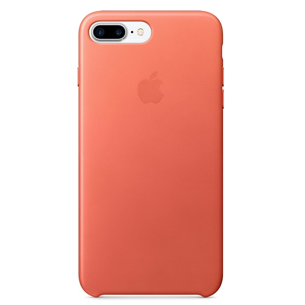Kožený kryt Apple Leather Case iPhone 8 Plus / 7 Plus Muškýtový (Geranium)