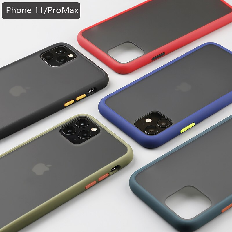 Matný kryt Vennus Color Button Bumper na Apple iPhone 11 Pro