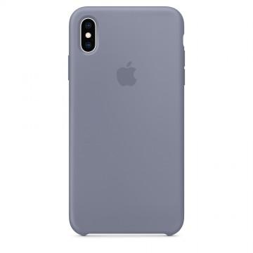 Silikonový kryt Apple Silicone Case iPhone XS Max Levandulově šedý  (Lavender Gray) 6fabb75fd00