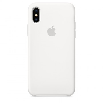 Silikonový kryt Apple Silicone Case iPhone Xs/X MRW82ZM/A Bílý (White)