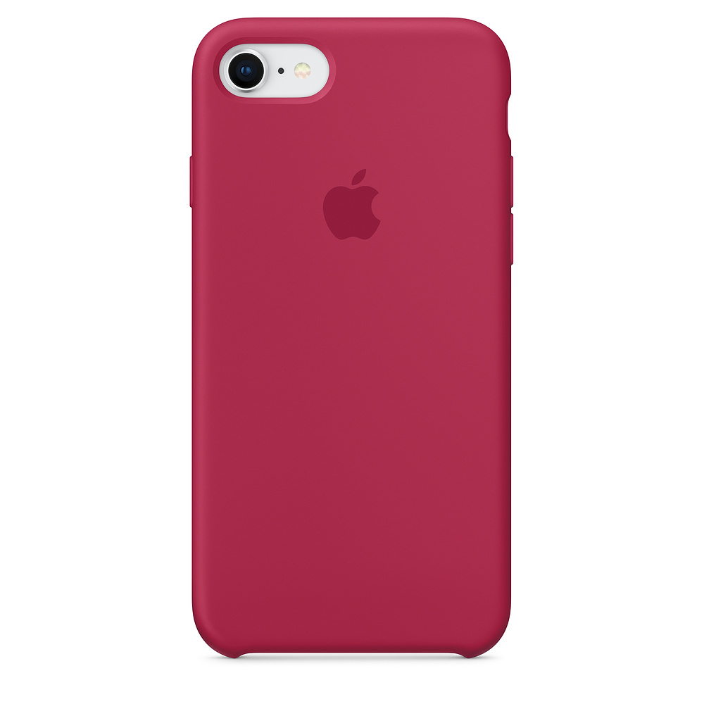 Silikonový kryt Apple Silicone Case iPhone 8/7 Vínový (Rose red)