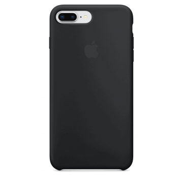 Silikonový kryt Apple Silicone Case iPhone 8 Plus / 7 Plus Černý (Black)