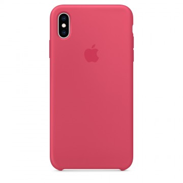 Silikonový kryt Apple Silicone Case iPhone XS Max MUJP2ZM/A Ibiškový (Hibiscus)