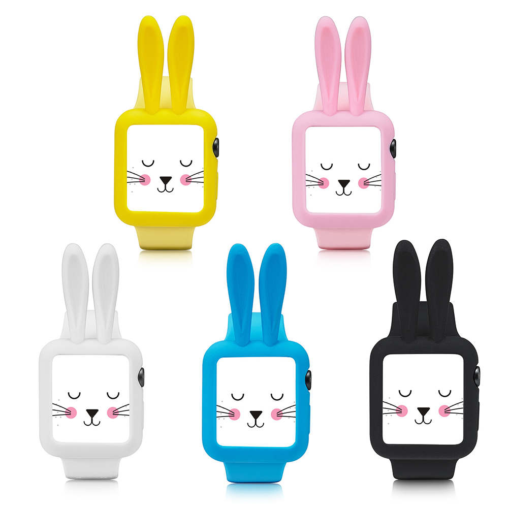 Silikonový obal Cartoon Rabbit Apple Watch Series 3/2/1 (38mm)
