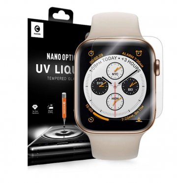 Ochranné tvrzené sklo Mocolo Nano Optics UV Liquid Tempered Glass Apple Watch Series 4/5/6/SE (44mm)