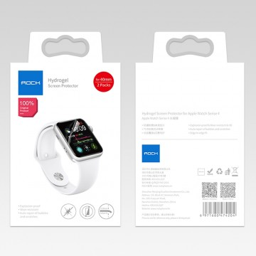 Ochranná fólie ROCK Hydrogel na Apple Watch Series 4/5/6/SE (40mm), 2 packs