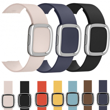 Kožený řemínek Modern Buckle k Apple Watch Series 4/5/6/SE (44mm)