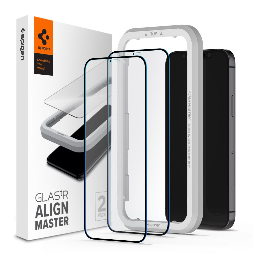 Spigen GLAStR Align Master Full Cover iPhone 12 Pro/12 [2 Pack]